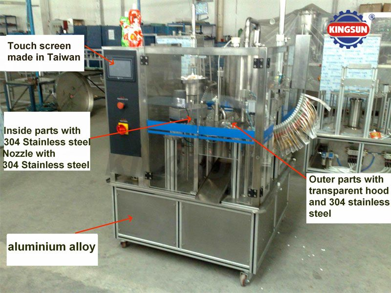 ZPZD-1200 Stand-up Pouch Liquid Filling and Capping Machine