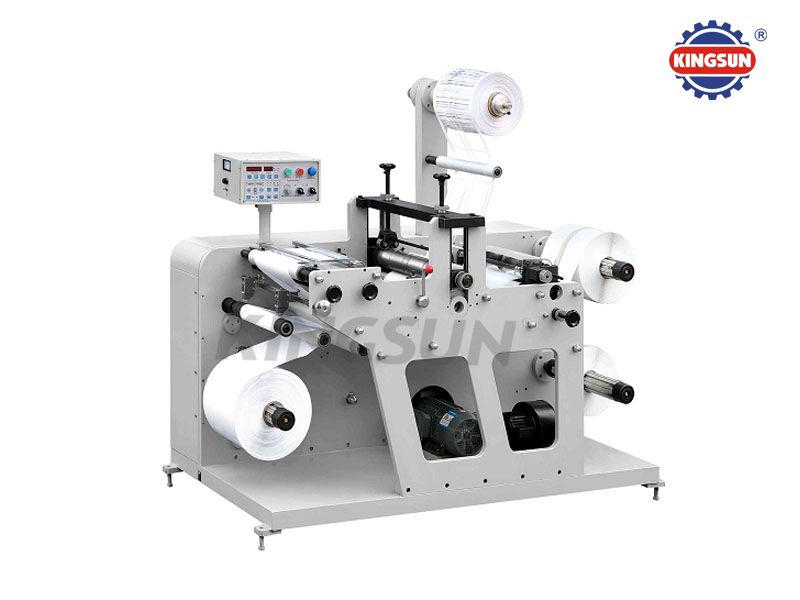 DK-320G Model Label Slitter with Rotary Die Cutter