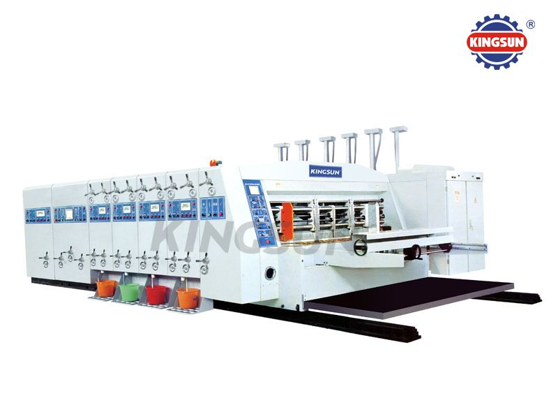 High speed flexo printer slotters and in line die-cutters