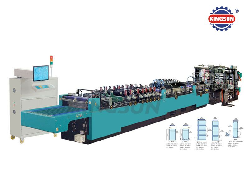 WKS-600HK Computerized Three Side Sealing Zipper Bag Making Machines