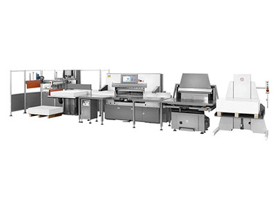 Paper cutting production line