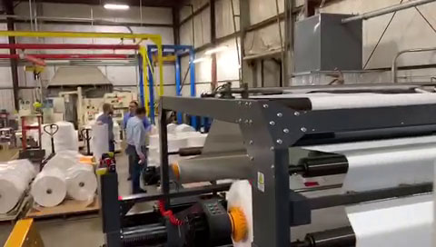 KSM-1700 twin rotary knife paper sheeter successfully installed in Ohio USA